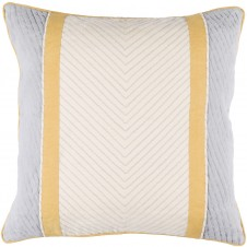 surya leona beige & grey pillow