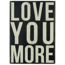love you more wood box sign