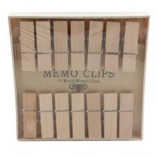 homart natural wood memo clips