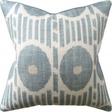mesa ikat aqua pillow