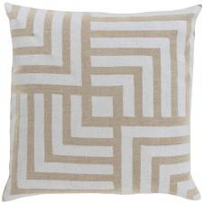 surya metallic stamped maze pillow