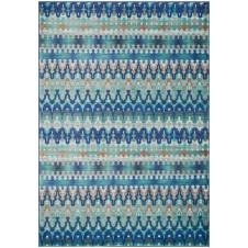 madeline collection blue multi stripe rug