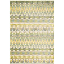 madeline collection green multi stripe rug
