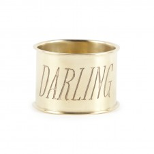 darling endearment brass napkin ring set of 4
