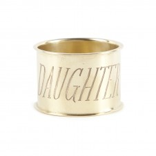 daughter endearment brass napkin ring set of 4