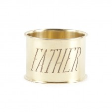 father endearment brass napkin ring set of 4