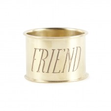 friend endearment brass napkin ring set of 4