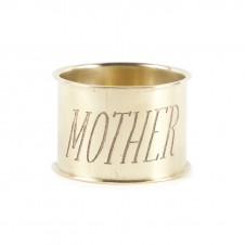 mother endearment brass napkin ring set of 4