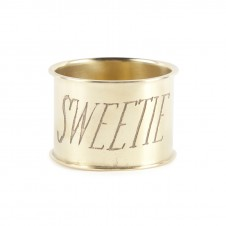 sweetie endearment brass napkin ring set of 4