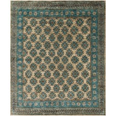 nomad collection beige & ocean rug