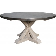 noir zinc top round table