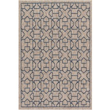 newport collection grey & blue rug