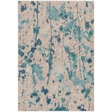 newport collection aqua & grey rug