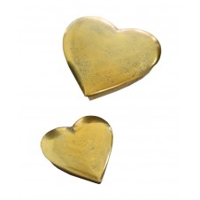 antique gold heart boxes set of 2