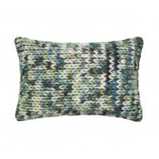 dhurri style blue & green pillow