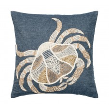 embroidery crab pillow