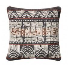 abstract aztec applique block pillow