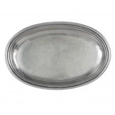 arte italica roma peltro small oval dish