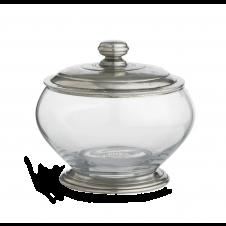 arte italica roma small glass canister