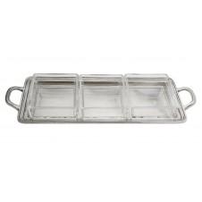arte italica tavola rectangular divided dish