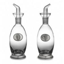 arte italica tavola glass oil & vinegar bottle set