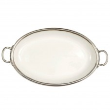 arte italica oval tray with handles