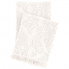 pine cone hill paisley lace ivory throw blanket