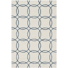 panache collection ivory & blue rug
