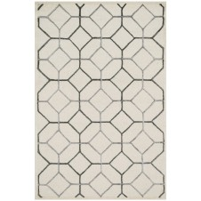 panache collection ivory & grey rug