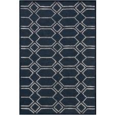panache collection indigo & silver rug