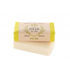 olivina pear oatmeal soap bar