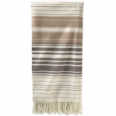 pendleton neutral striped 5th avenue throw