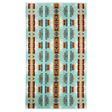 pendleton chief joseph aqua oversized jacquard towel