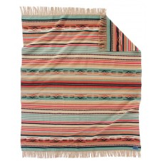 pendleton coral chimayo fringed throw