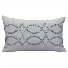 linen breeze rectangle studded pillow