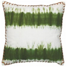olive tie dye pillow