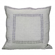linen breeze large studded pillow