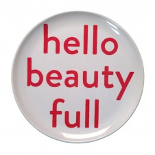 hello beauty full melamine plate set of 4