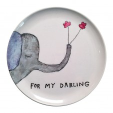 for my darling melamine plate set of 4