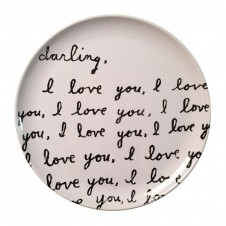 darling i love you melamine plate set of 4