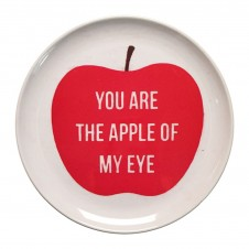 apple of my eye melamine plate set of 4