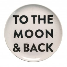 to the moon and back melamine plate set of 4