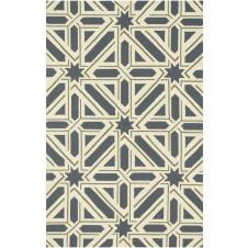 palm springs collection slate & taupe polypropylene rug