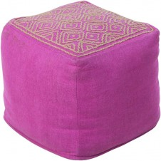 surya atlas pouf in bright purple