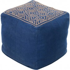 surya atlas pouf in navy