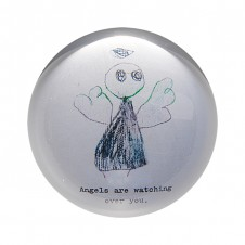 angels are watching paper weight