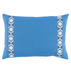 lacefield royal linen with regatta on white camden tape lumbar pillow