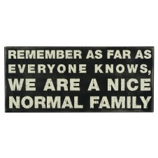 nice normal family wood box sign