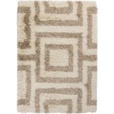 surya rhapsody area rug, ivory geometric