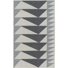 surya renata area rug, grey and charcoal